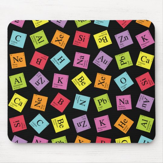 Elementary Periodic (Dark) Mouse Mat
