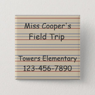 Elementary School Paper Personalized 15 Cm Square Badge