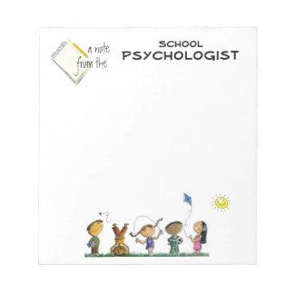 Elementary School Psychologist Note Pad