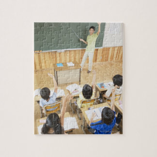 Elementary school students at school jigsaw puzzle