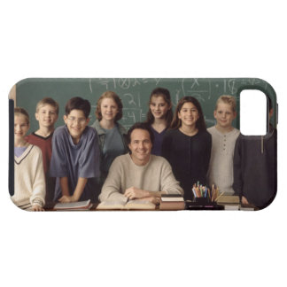 Elementary school students standing behind tough iPhone 5 case
