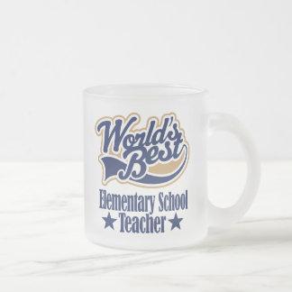 Elementary School Teacher Gift Frosted Glass Mug
