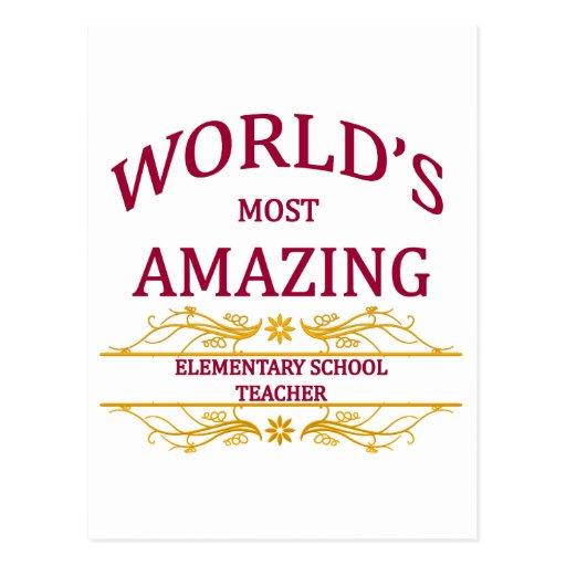 Elementary School Teacher Post Card