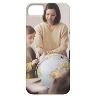 Elementary school teacher showing globe to barely there iPhone 5 case