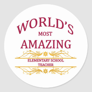 Elementary School Teacher Sticker