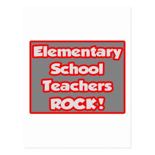 Elementary School Teachers Rock! Postcards