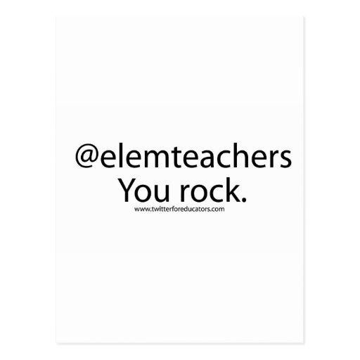 Elementary School Teachers Rock Postcards