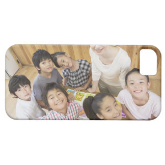 Elementary students and teacher case for the iPhone 5