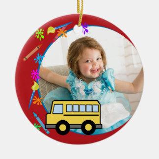 Elementary Years School Bus Photo Christmas Ornament