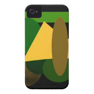 elements black green iPhone 4 covers