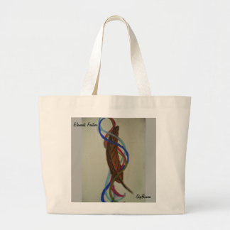 elements feather art tote