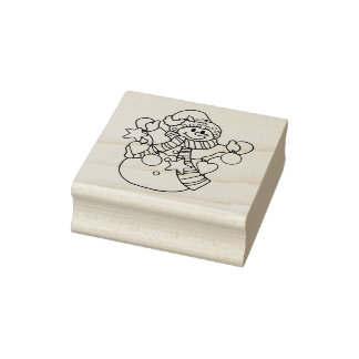 Elements Of Christmas Christmas Rubber Stamp