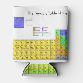Elements Periodic Table Scientific Nerd Can Cooler
