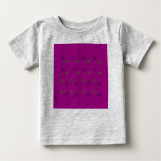 Elements pink on grey t-shirt