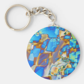 Elements/Yttrium under the microscope Basic Round Button Key Ring