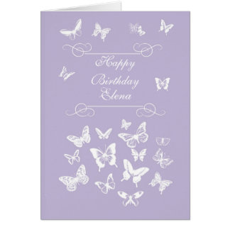 Elena Butterflies Happy Birthday Irish Blessing Card