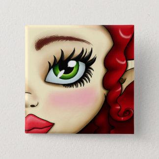 Elena Button-Nose 15 Cm Square Badge
