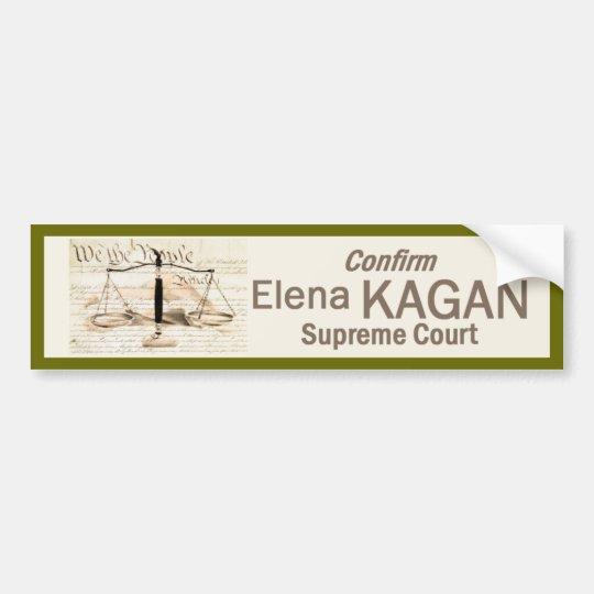 Elena Kagan Supreme Court Bumper Sticker