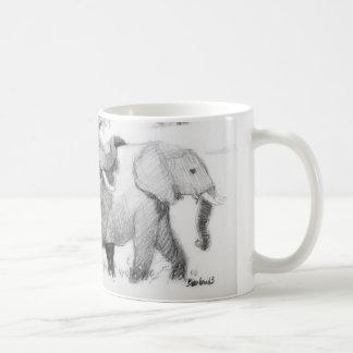 Elepephants Wraparound Basic White Mug