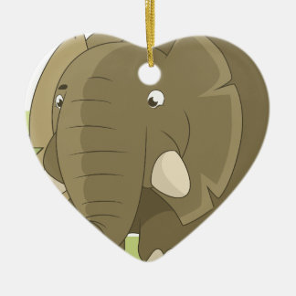 elephant-1598359 ceramic heart decoration