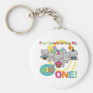 Elephant 1st Birthday T shirts and Gifts Key Chain