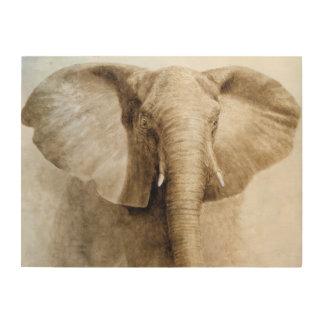 Elephant 2004 wood wall decor
