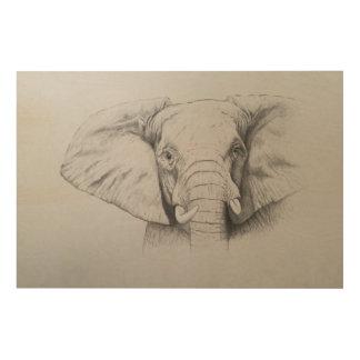 Elephant 2011 wood wall decor