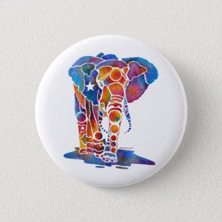 Elephant 6 Cm Round Badge