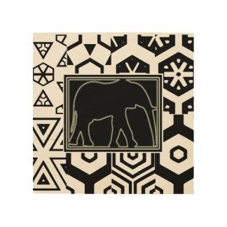 """ELEPHANT"" 8 x 8 AFRICAN WOOD ART Wood Print"
