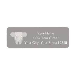 Elephant Address Label