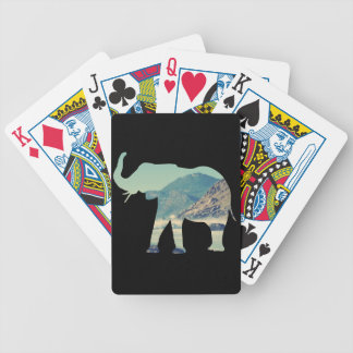 Elephant Adventure Bicycle Playing Cards