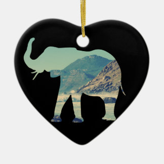 Elephant Adventure Ceramic Heart Decoration