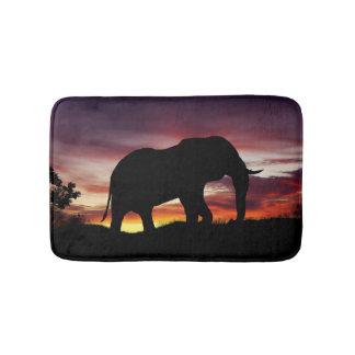 Elephant Africa Safari Sunset Scenery Bath Mat