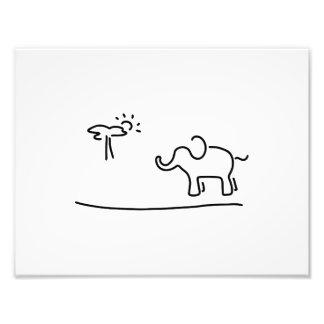 elephant Africa savanne Photo Print