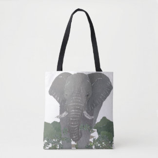 Elephant, African Animal, Wild Life Tote Bag