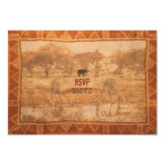 Elephant African Safari Wedding RSVP Reply Card