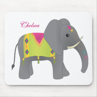 Elephant All Dressed Up Mouse Mat