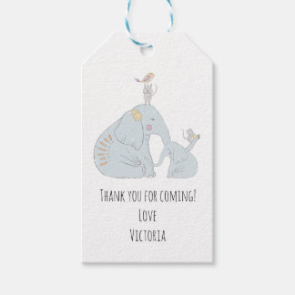 Elephant and baby Favor tags
