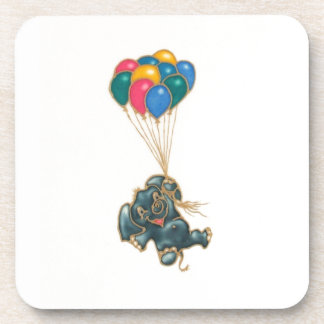 elephant and balloons drink coasters