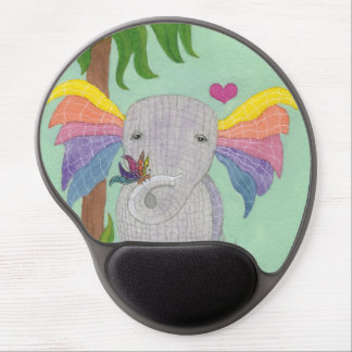 Elephant and Butterfly BFF Gel Mouse Pad