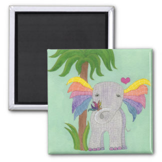 Elephant and Butterfly BFF Magnet