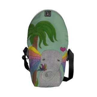 Elephant and Butterfly BFF Courier Bag