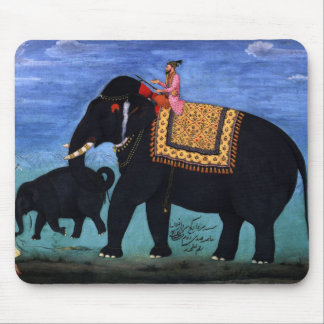 Elephant and Cub Mouse Pad