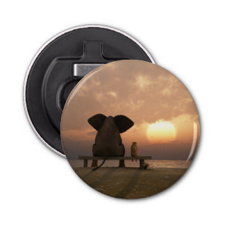 Elephant and Dog Friends Bottle Opener