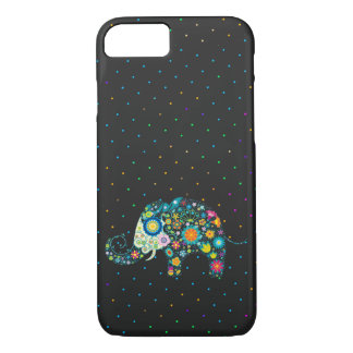 Elephant and dots pattern iPhone 7 case