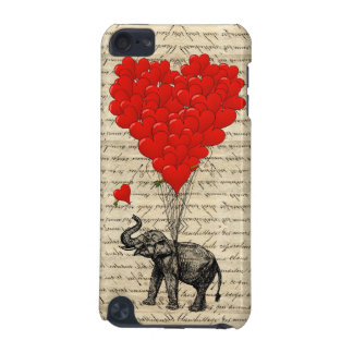 Elephant and heart shaped balloons iPod touch (5th generation) cases