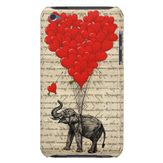 Elephant and heart shaped balloons iPod touch cover