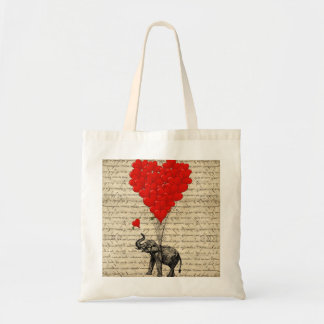 Elephant and heart shaped balloons bag