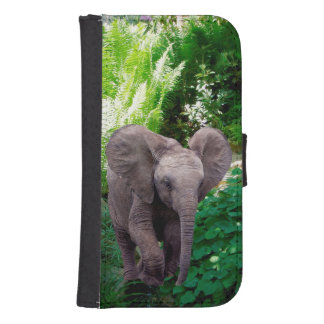 Elephant and Jungle Samsung S4 Wallet Case