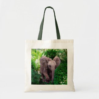 Elephant and Jungle Tote Bag